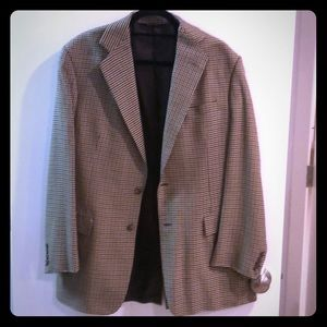Brown checkered J. Crew Sports Coat
